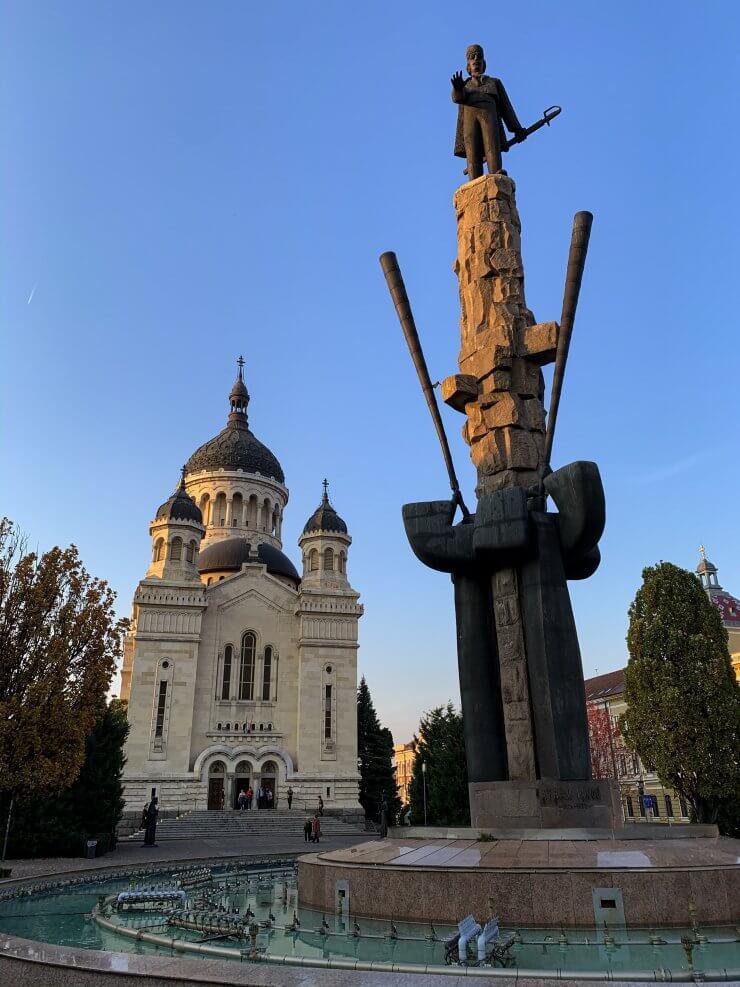 Piata Avram Iancu in Cluj, Romania