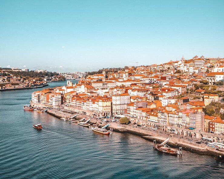 View from the Dom Luis I Bridge in Porto
