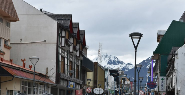 Avenida San Martin is a great shopping street in Ushuaia, Argentina