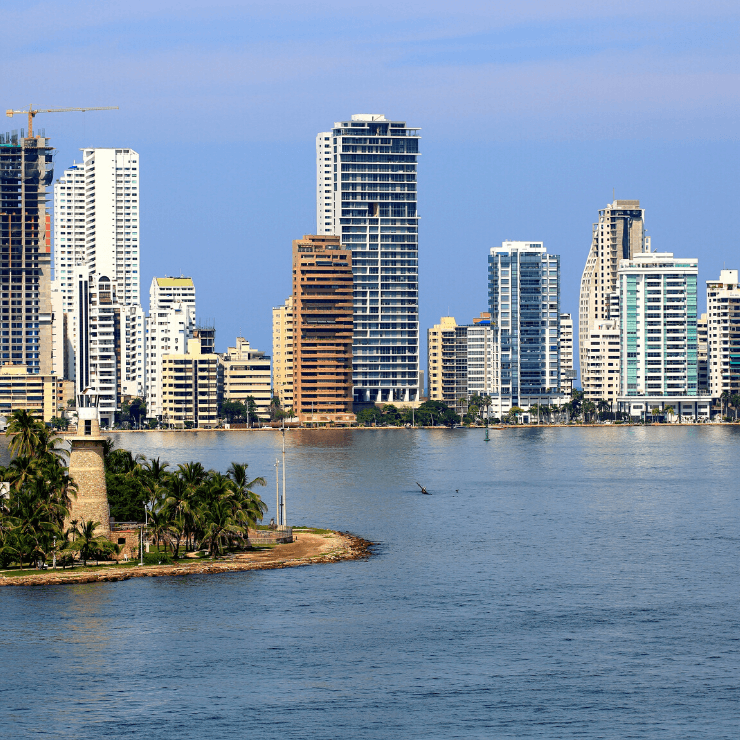 Skyline view of Cartagena, Colombia