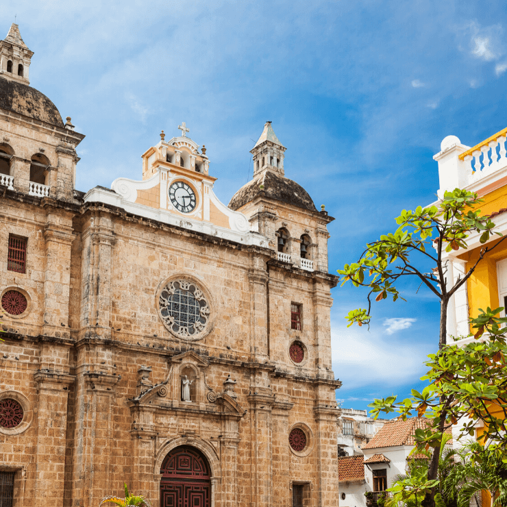 Saint Peter Claver Church in Cartagena