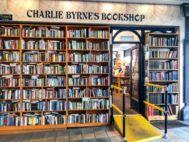 The entrance to Charlie Byrne's Bookstore in Galway, Ireland