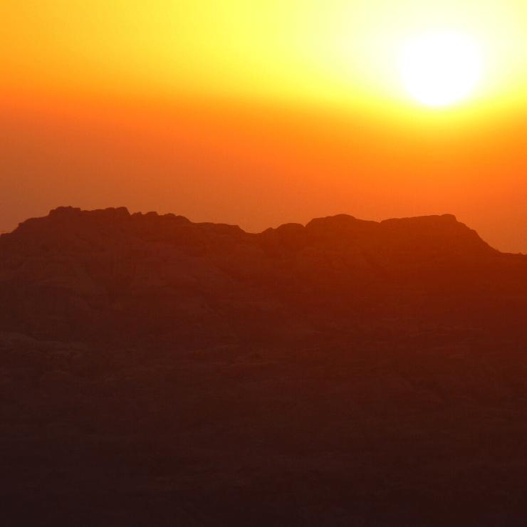 Sunset and Scenery in Jordan Near Petra