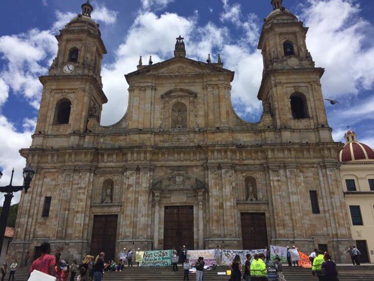Bogotá National Cathedral in Plaza Bolívar