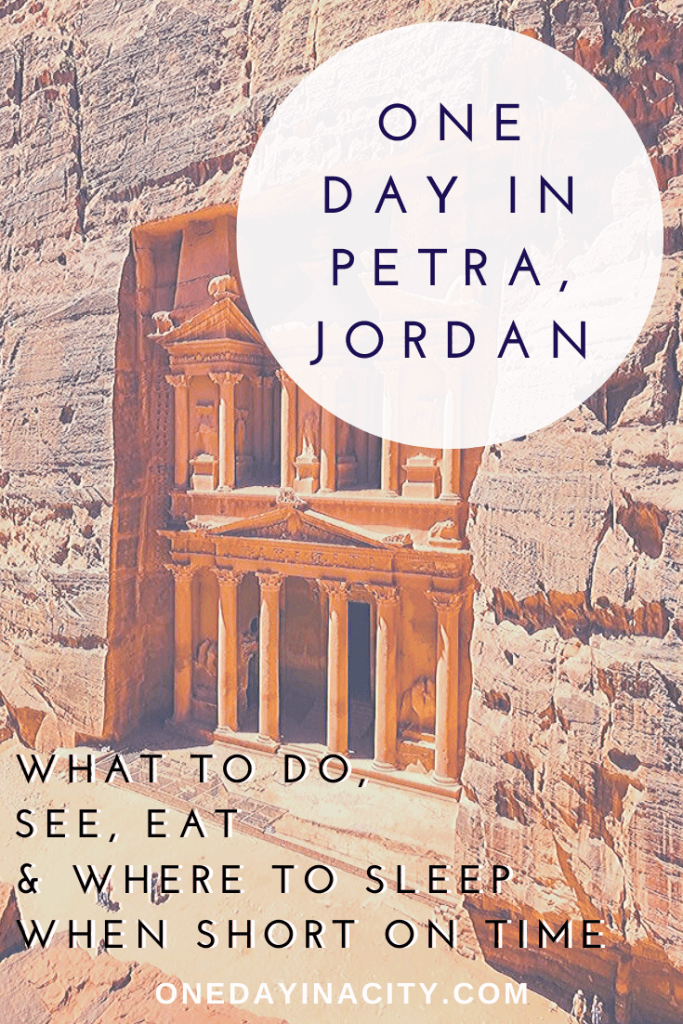 This in-depth One Day in Petra travel guide covers what you must see, do, and eat while in Petra -  even if you only have time for a day trip. Plus, where to sleep to maximize your time in Petra.