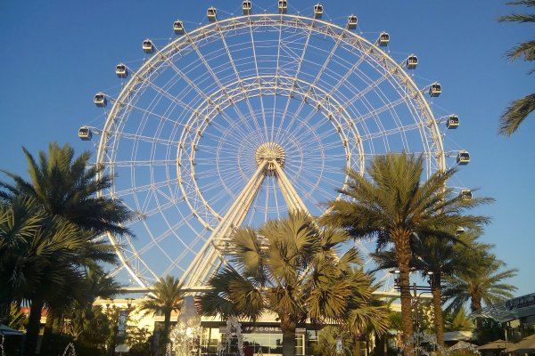 Orlando, Florida with the Icon Park Ferris Wheel in the Background