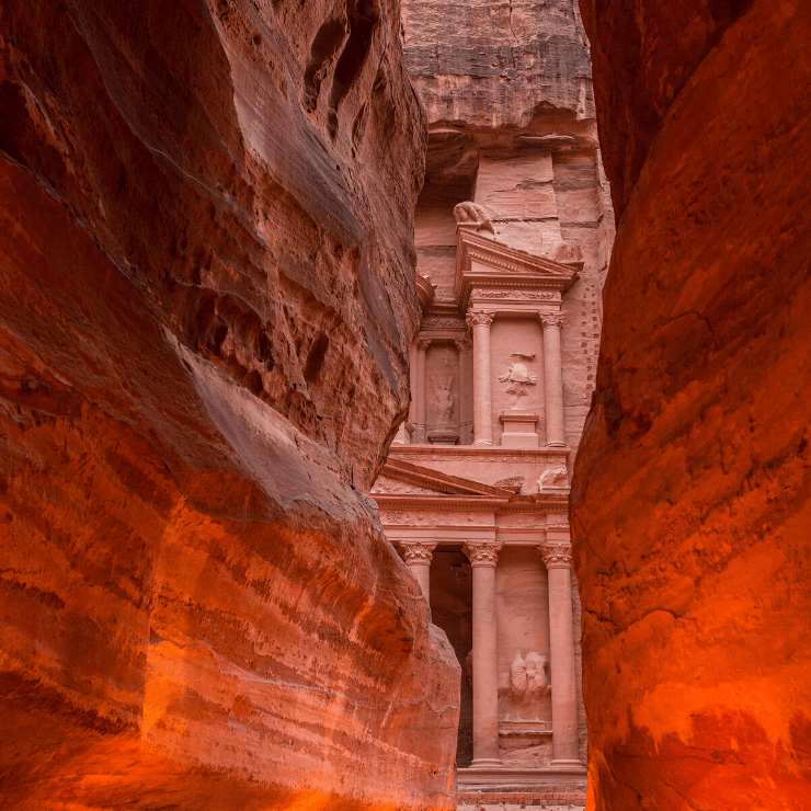 Cave Tunnel in Petra by the Treasury.