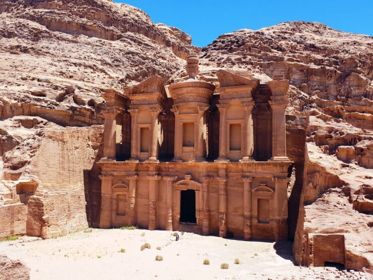 Make time during your one day in Petra to see the magnificent Monastery.