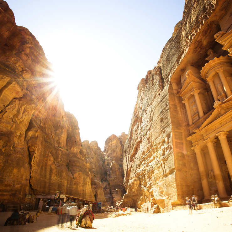 One day in Petra must include seeing the Treasury.