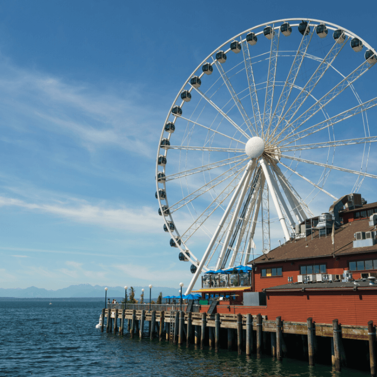 A ride on the Seattle Great Wheel is a fun way to take in the views.