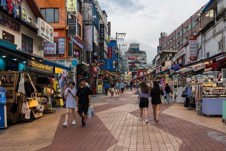 Hongdae neighborhood of Seoul is great for nightlife when you have 24 hours in Seoul.