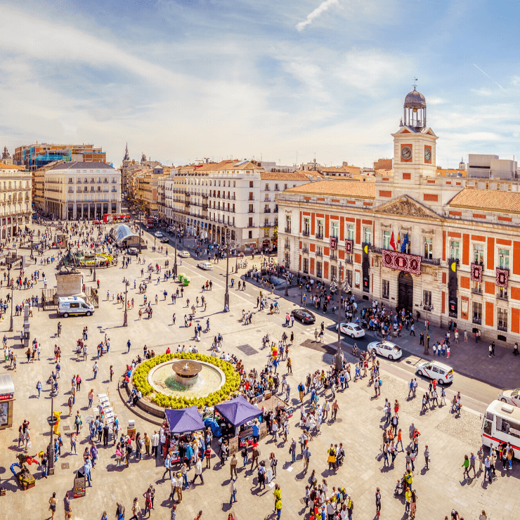 Madrid's bustling squares are a must-see during 1 day in Madrid.