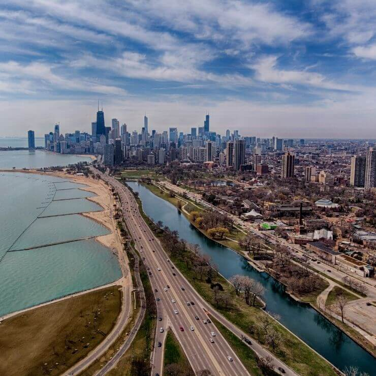 Chicago Skyline and City Beaches: Both are a must-see during 24 hours in Chicago.