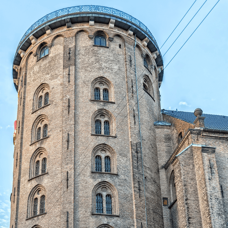 Round Tower is a great place to go for scenic views of Copenhagen.