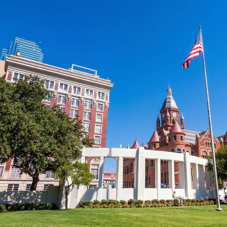 Dealey Plaza, one of the top sites to see in Dallas
