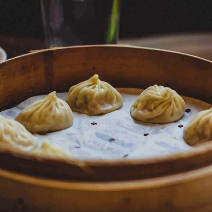 Dumplings at Din Tai Fung Restaurant in Taipei