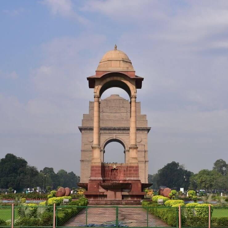 India Gate in Delhi, India.