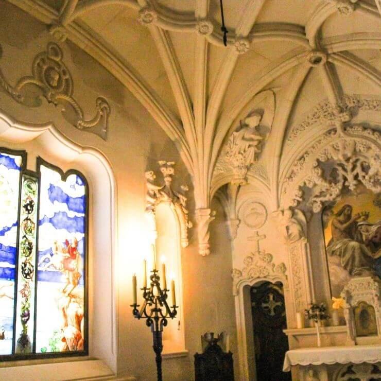 Interior room at Quinta da Regaleira
