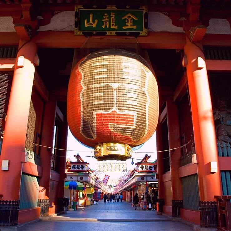 Lantern at Kaminarimon Gate in Tokyo