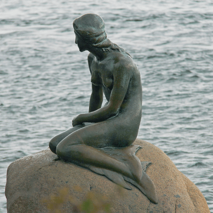 Little Mermaid Statue in Copenhagen, Denmark