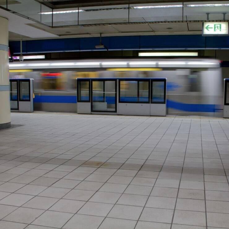 MRT Platform in Taipei