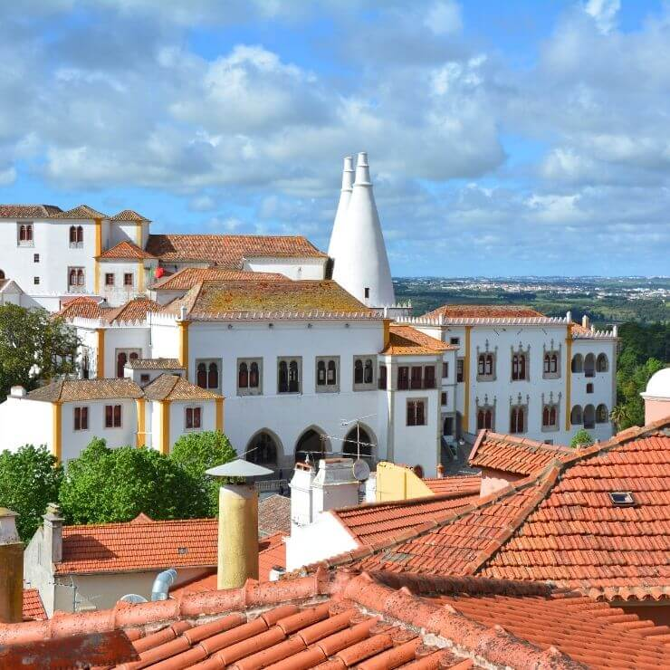 Rooftop view of the National Palace of Sintra
