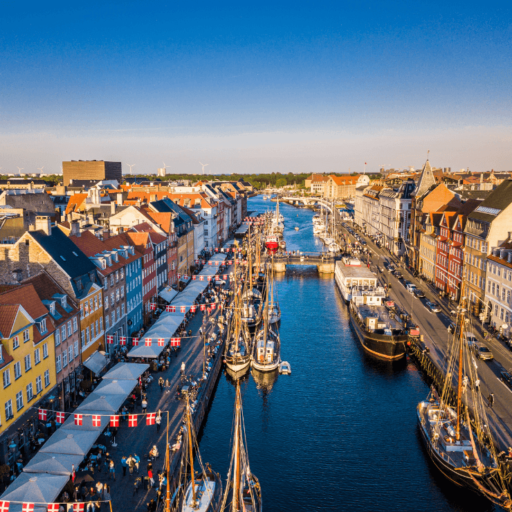 Walking around Nyhavn, also referred to as New Harbor, is one of the top things to do in Copenhagen.
