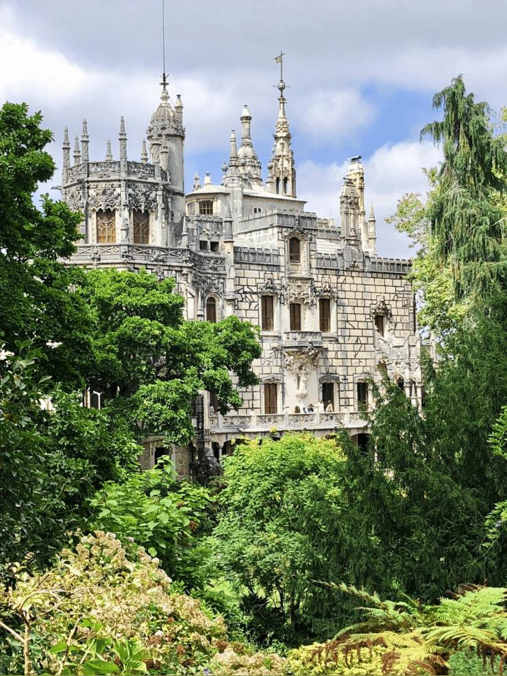 Quinta da Regaleira, a beautiful palace in Sintra, Portugal.