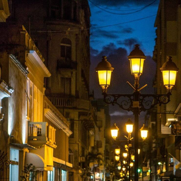 Santo Domingo at Night in the Colonial. Santo Domingo is best visited with at least 24 hours in the city so you can experience Santo Domingo's nightlife.