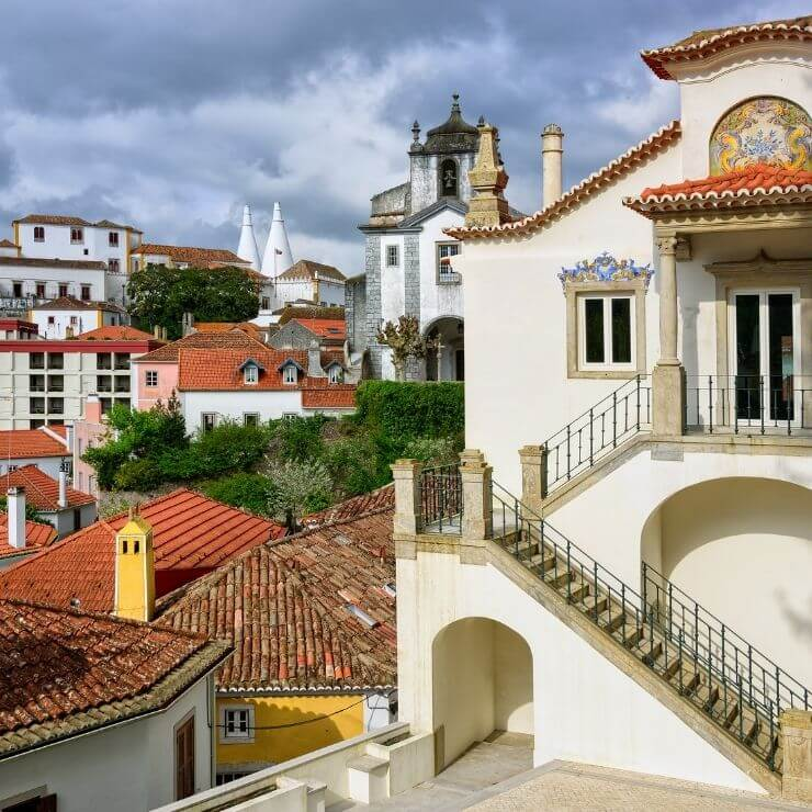 The beautiful buildings and castles of Sintra, Portugal. It is a perfect day trip from Lisbon.