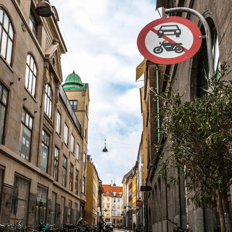Car-free zone in Copenhagen.