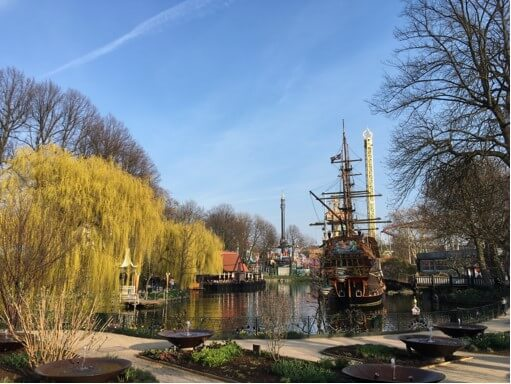 Beautiful Tivoli Gardens in Copenhagen are a must-see even if you have just one day in Copenhagen.