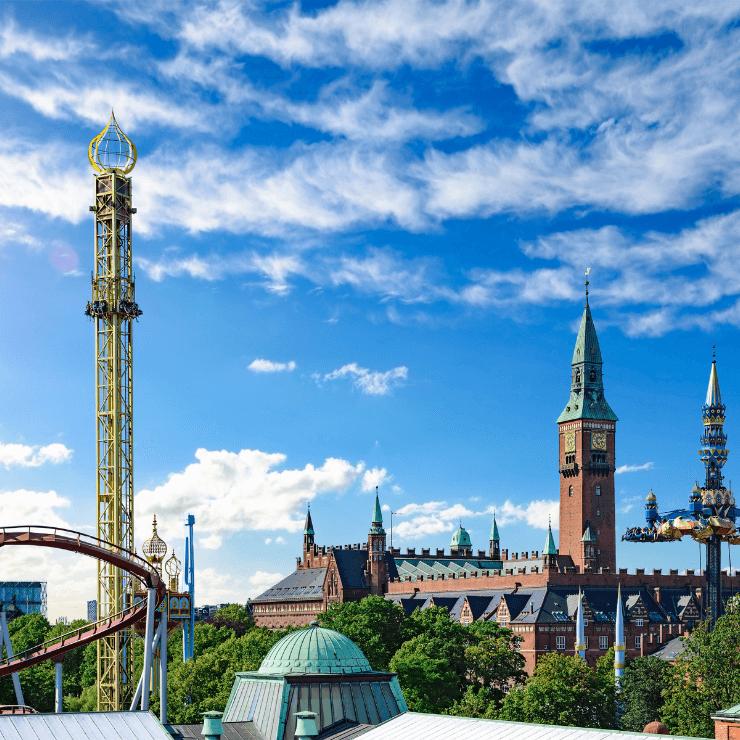 Rides and Greenery in Copenhagen's Tivoli Park