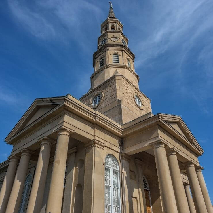 Stately St. Phillips Church in Charleston