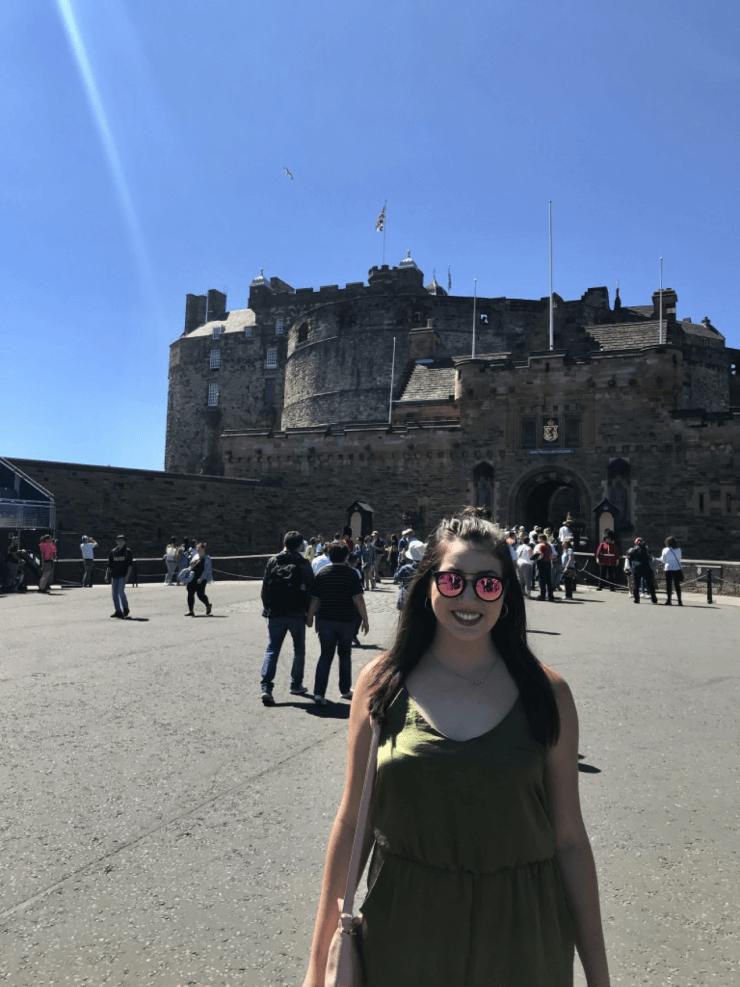 Sunny day at Edinburgh Castle