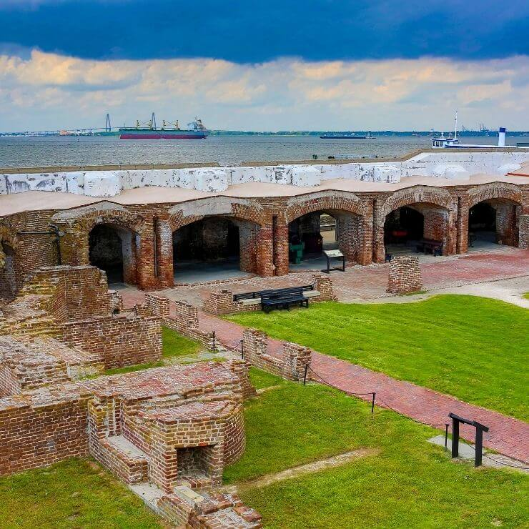 Fort Sumter is a must-visit site during a day in Charleston.