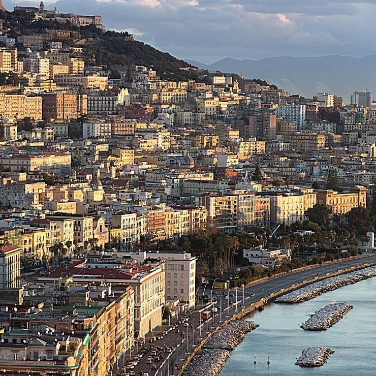 Lungomare Caracciolo in Naples is a great place for lunch and shopping during a day in Naples.