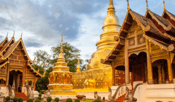 A One Day in Chiang Mai itinerary should definitely include temples.
