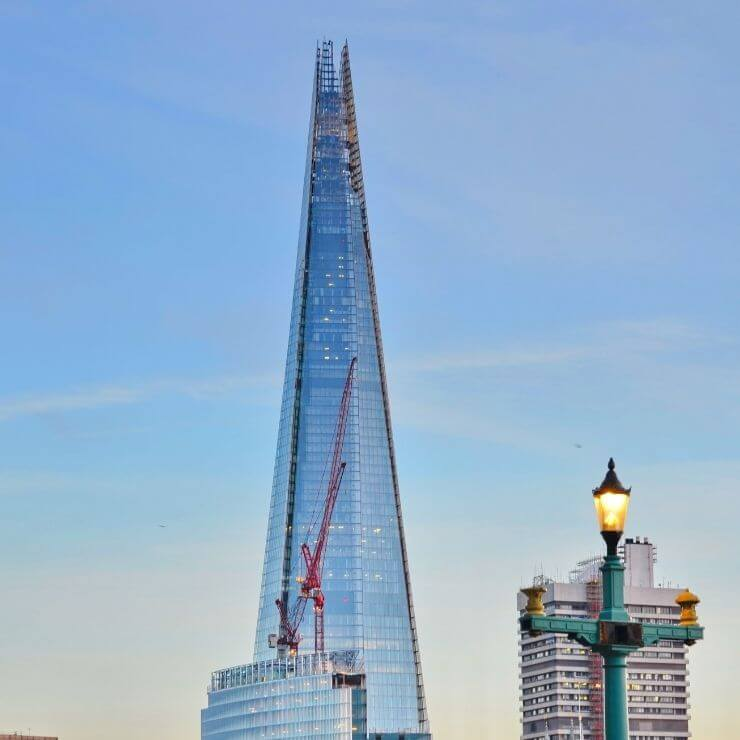 The Shard is the tallest building in London and is a must-see on your London itinerary.