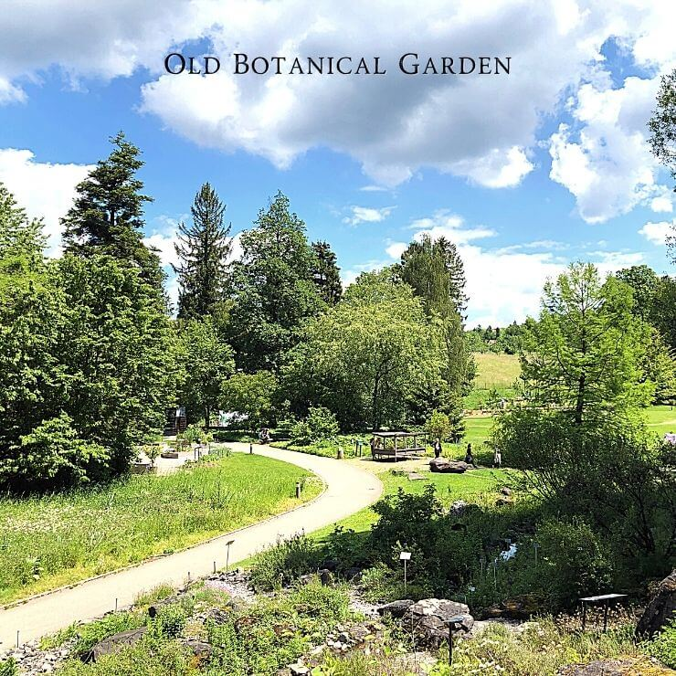 Old Botanical Garden in Zurich, Switzerland is a relaxing part of an itinerary for Zurich.