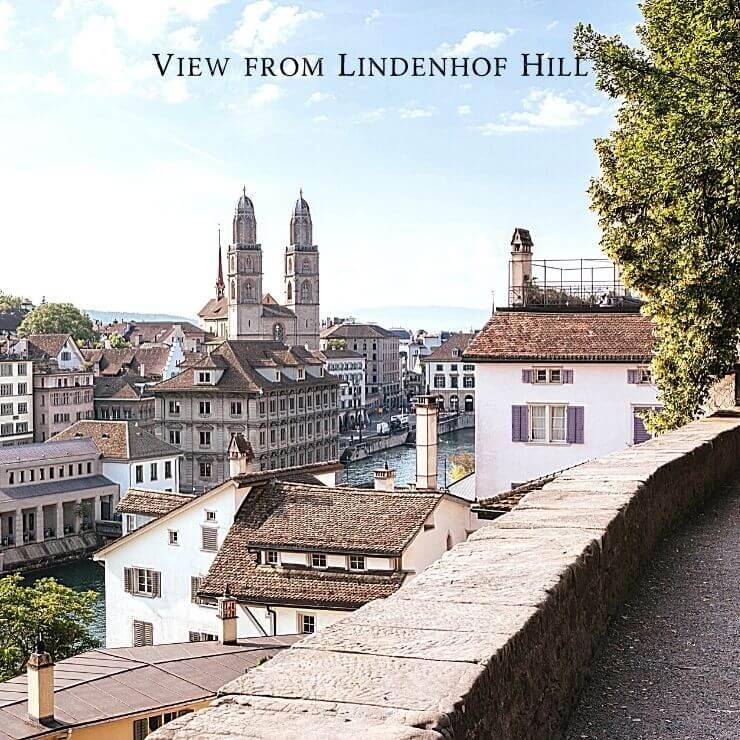 View from Lindenhof Hill in Zurich