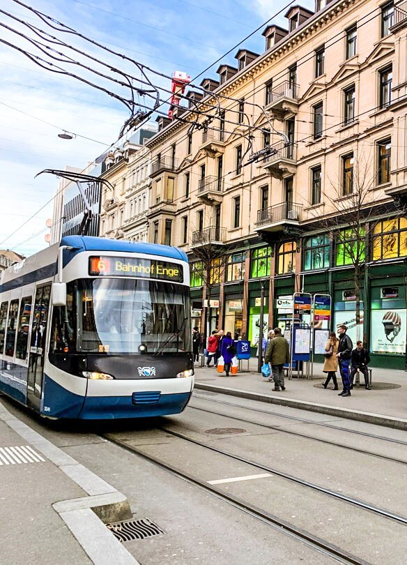 Bahnhofstrasse in Zurich is one of the best streets for shopping in all of Europe.