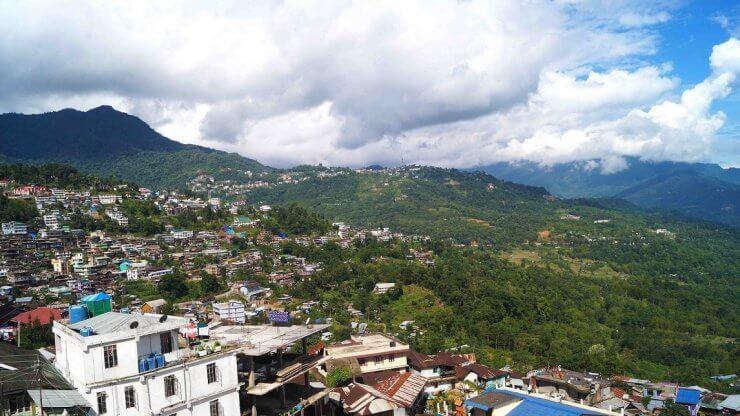 View of Kohima, India