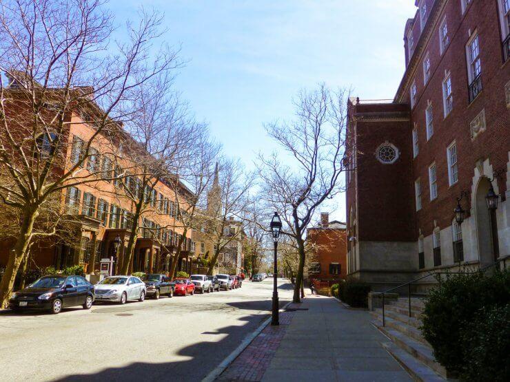 Street scene in Providence, Rhode Island