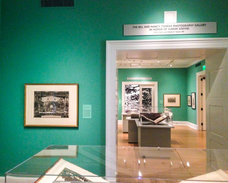 Exhibit room in the museum at Rhode Island School of Design in Providence.