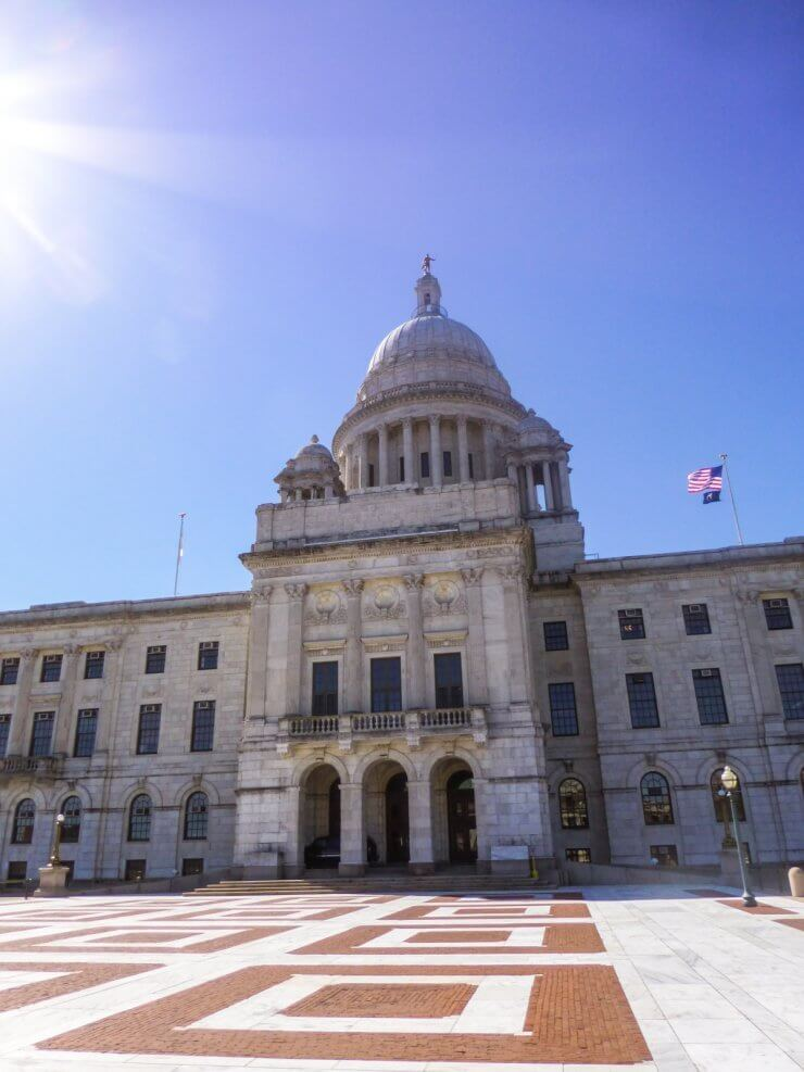 Visiting the Rhode Island State House is a top thing to do on a trip to Providence, RI.