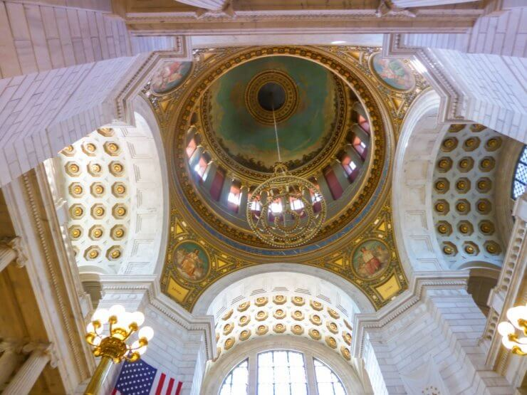 Interior view of the dome in the Rhode Island State House.