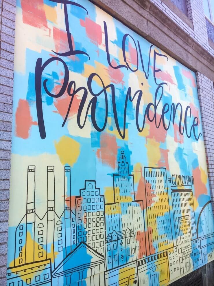 I Love Providence art mural in Providence, RI