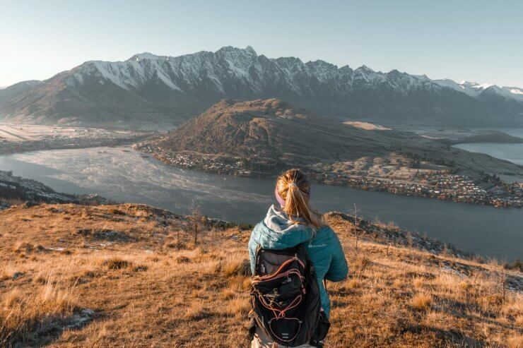 View from Queenstown Hill, an incredible hike on New Zealand's South Island.