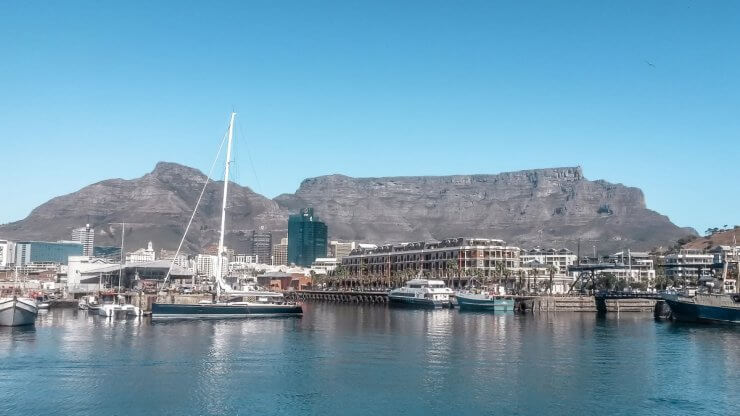 Cape Town's V&A Waterfront is a great place for dinner.